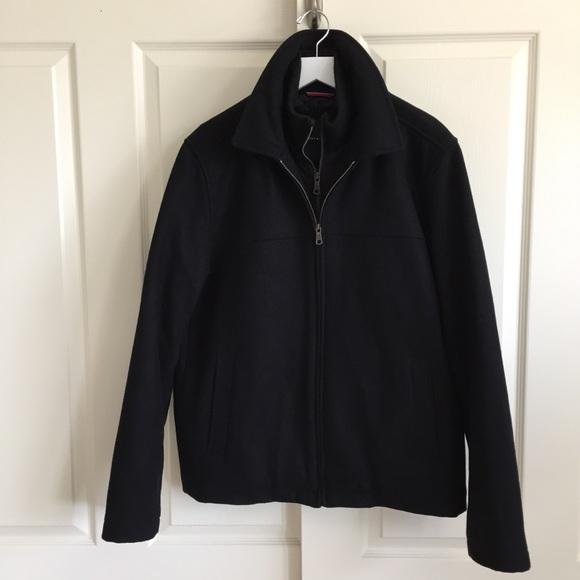 791969bb Tommy Hilfiger Black Wool Blend Bomber Jacket. M_5a73b4bf739d4832f8f974ad
